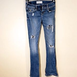 Girls Abercrombie Distressed Jean